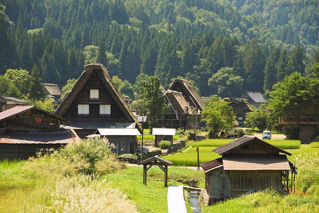 白川村の風景